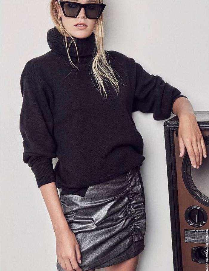Moda invierno 2019 ropa de mujer polerones y sweaters.