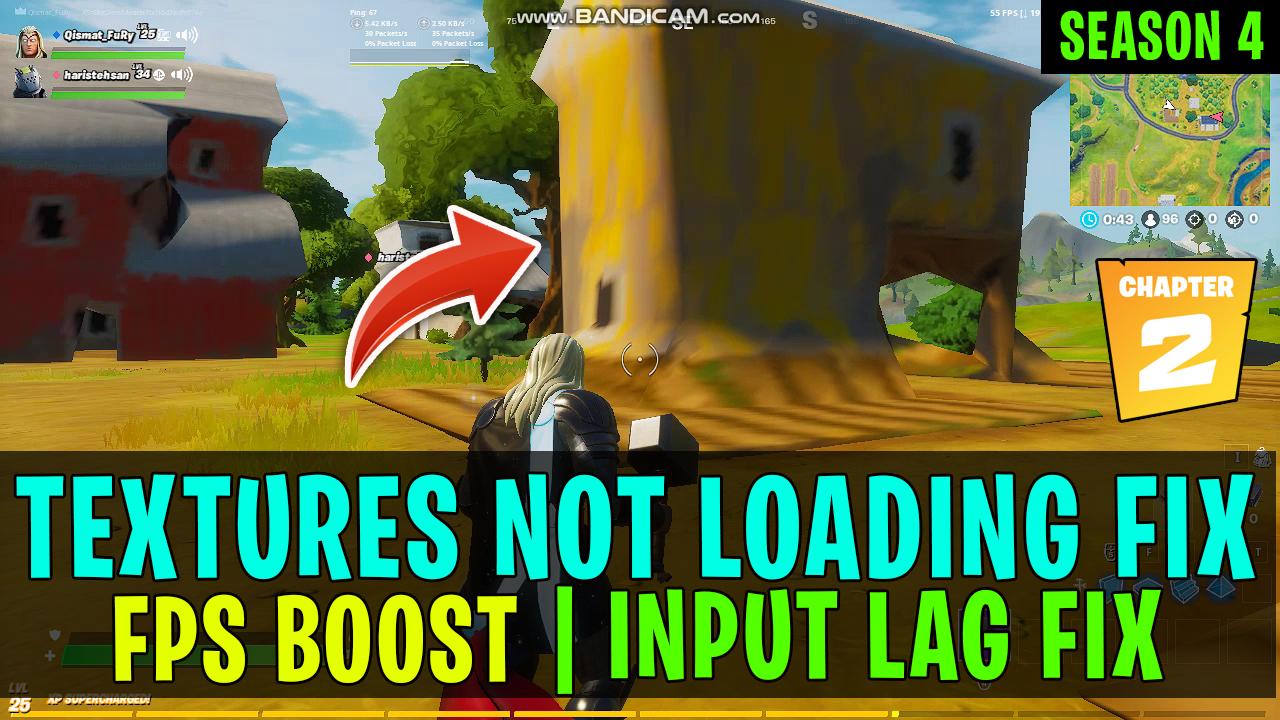 Fortnite Textures Download Fortnite Texture Not Loading Pc Fix Boost Fps Reduce Input Lag Fps Drop Fix Chapter 2 Season 4