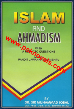 Islam And Ahmadism By Dr Sir Muhammad Iqbal