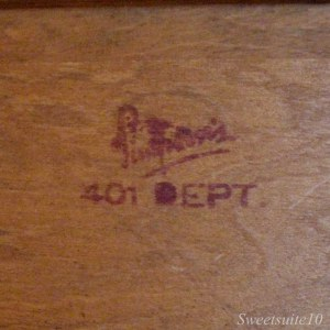 Simpson's logo on a dresser
