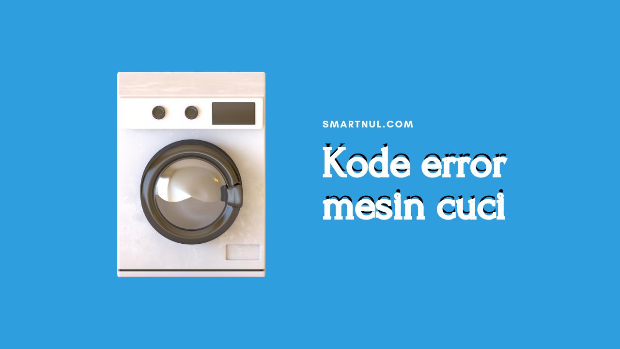 kode error mesin cuci