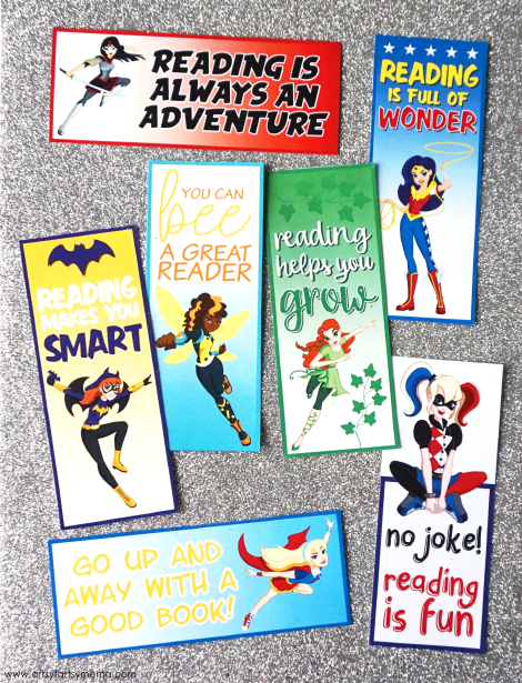 Free Printable DC Superhero Girls Bookmarks