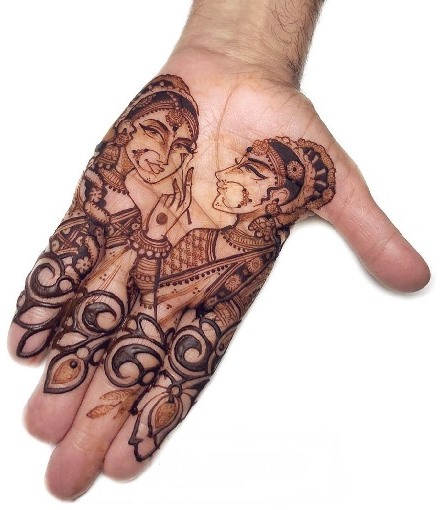 Ladies Mehndi design for front hand