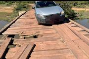 São Bernardo-Ma: VERGONHA: Moradores denunciam situação caótico de ponte no Povoado Coqueiro em São Bernardo