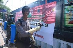 Personel Gabungan Kodim dan Polres Batang Melawan Covid-19
