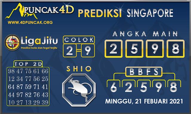 PREDIKSI TOGEL SINGAPORE PUNCAK4D 21 FEBUARI 2021