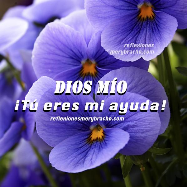 imagen cristiana salmo versiculo salmo Dios me ayuda