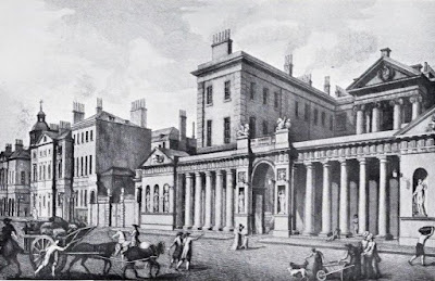 View of the Admiralty with the new screen by Robert Adam (published 1775)   from The Architecture of  Robert and James Adam by AT Bolton (1922)