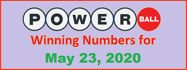 PowerBall Winning Numbers for Saturday, May 23, 2020