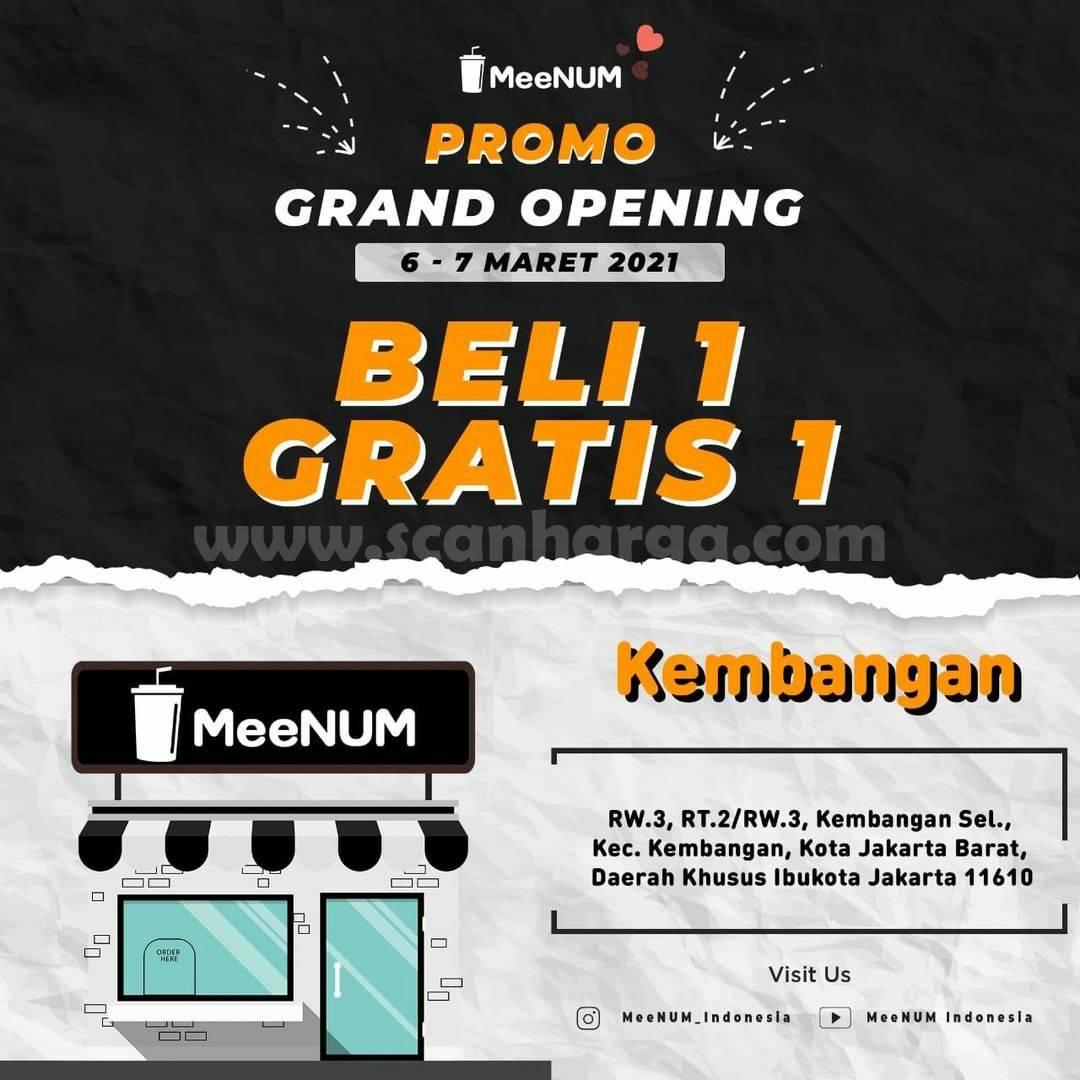 MeeNUM Kembangan Grand Opening Promo Beli 1 Gratis 1
