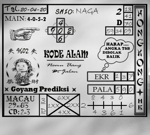 Syair Togel HK Senin 20 April 2020