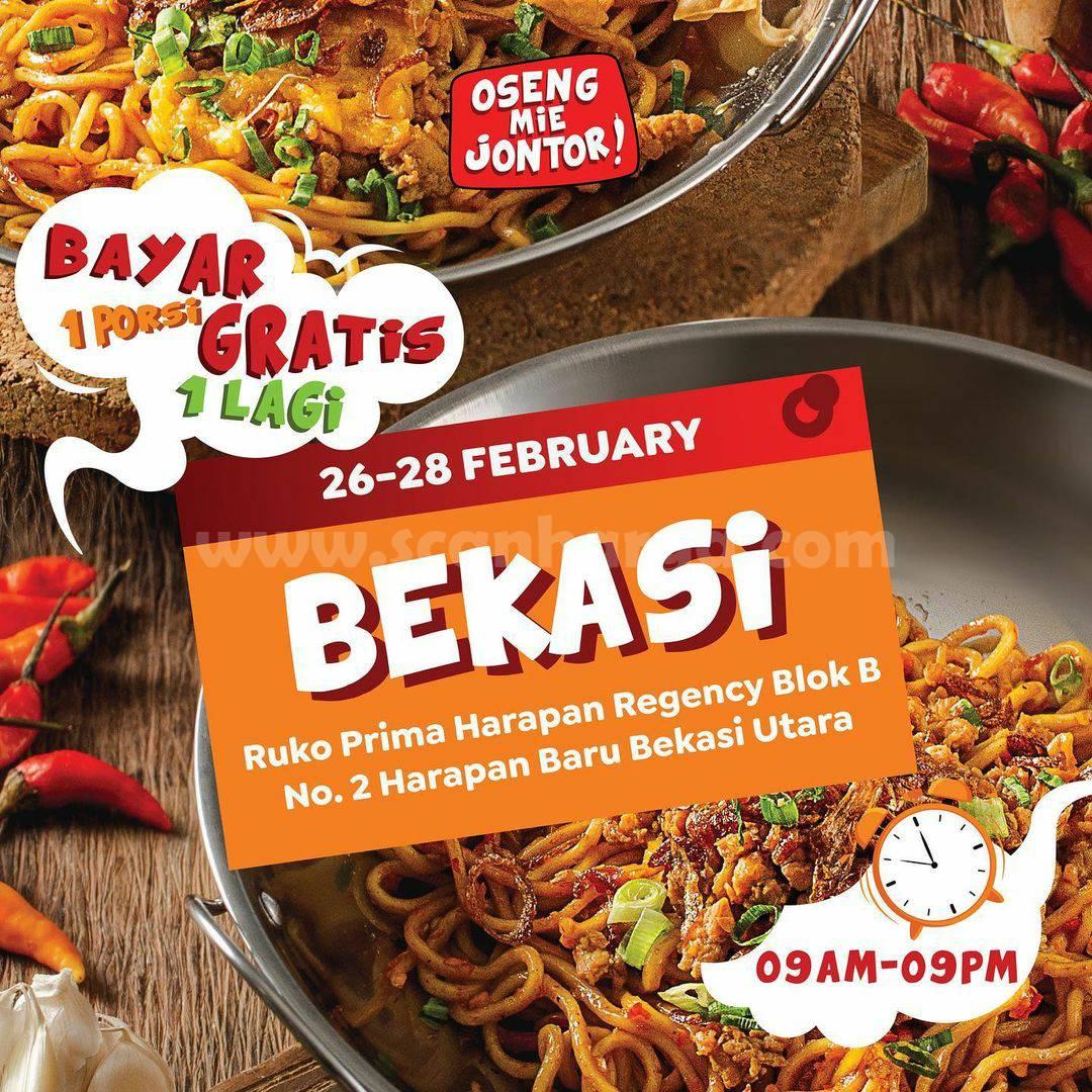 Oseng Mie Jontor Bekasi Grand Opening Promo – BELI 1 GRATIS 1