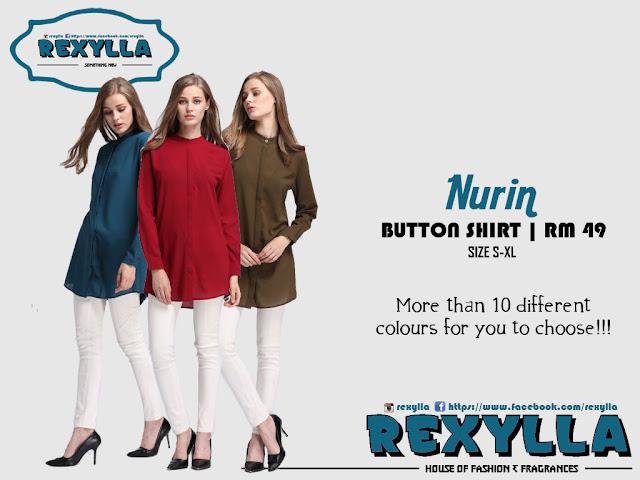 rexylla, button shirt, nurin collection