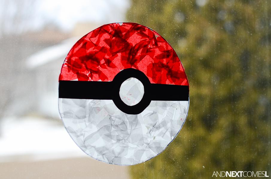 Pokeball Suncatcher Pokemon Craft For Kids And Next Comes L