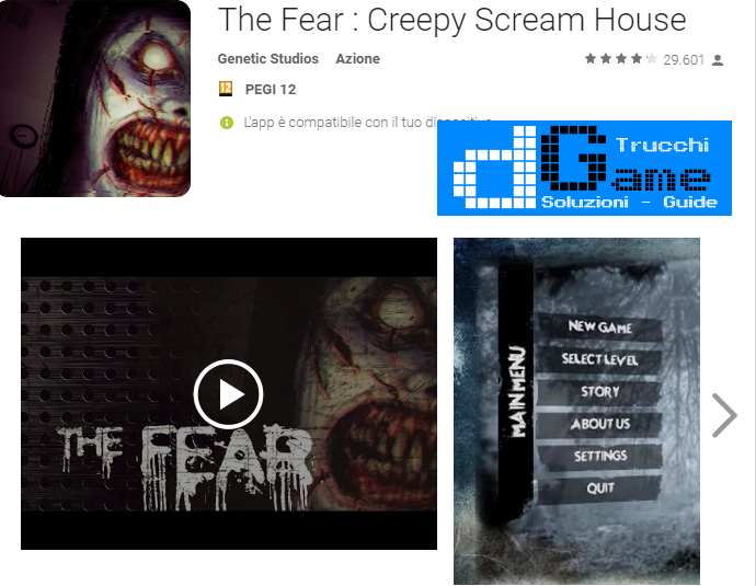 Trucchi The Fear : Creepy Scream House Mod Apk Android v1.5