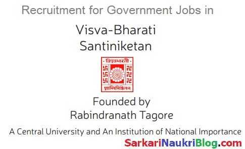 Visva Bharati Shantiniketan Government Jobs Vacancy