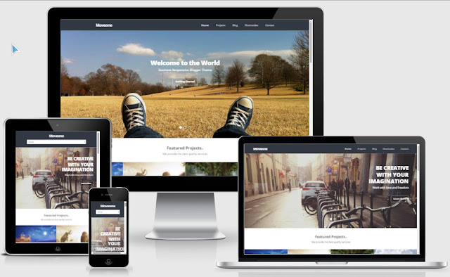 Move One Responsive Blogger Templates