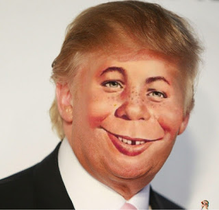 Donald Fucking Trump's head with the face of Alfred E. Newman