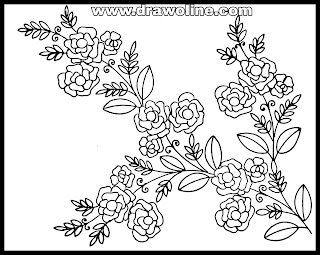 Latest embroidery flowers designs patterns drawings and sketches on tracing paper 2020.