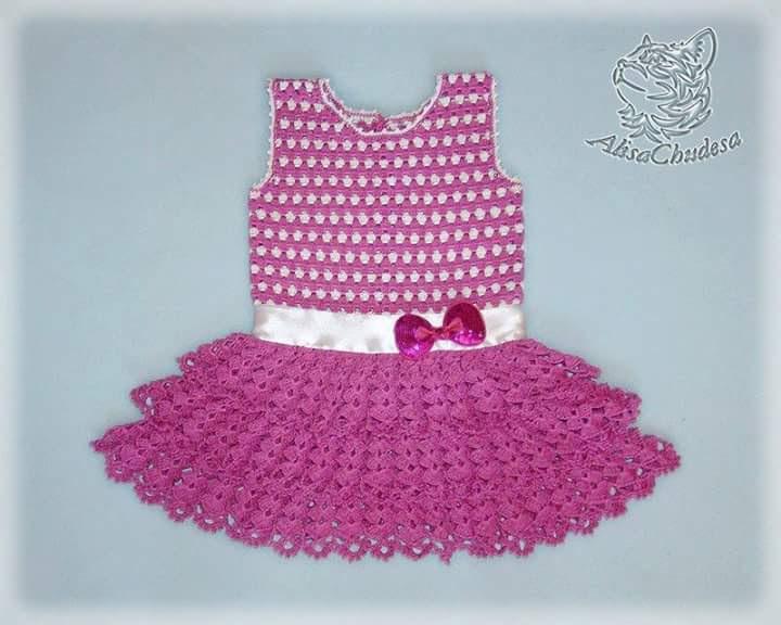 Favoritos Vestido Infantil Em Crochê com Gráfico - Katia Ribeiro Crochê Moda  XK35