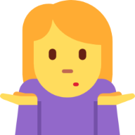 Woman Shrugging emoji
