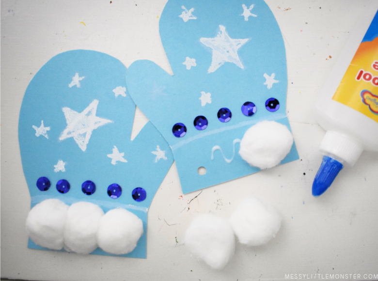 mitten craft for toddlers