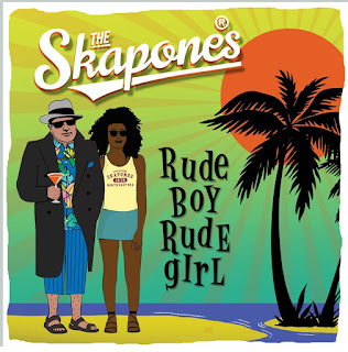 The cover illustration features a cartoon version of Al Capone holding a drink at the beach in a t-shirt and board shorts, as well as a trilby and overcoat. A black woman in a tank top and shorts stands next to him.
