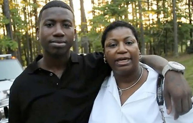 Rapper Gucci Mane looks exactly like his mum...they could pass for twins (photos)