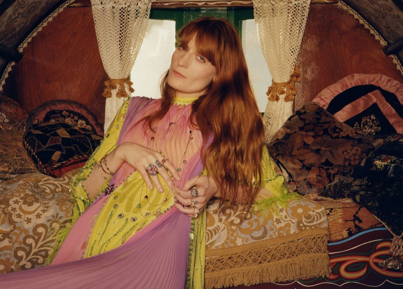 Florence Welch for Gucci Jewelry