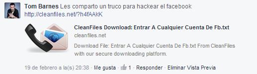 Estafa del Truco para Hackear Facebook