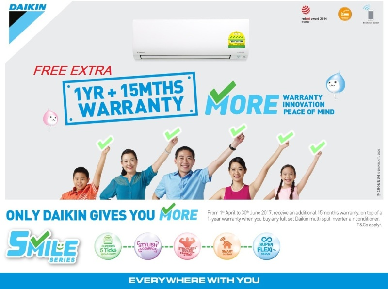 singapore airon suppliers daikin annual promotion gss 2017