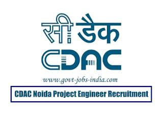 CDAC Noida Project Engineer Recruitment