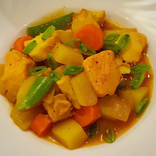 Mer fisk - enkel fiskgryta med potatis och curry