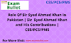 Role Of Sir Syed Ahmad Khan In Pakistan | Sir  Syed Ahmad Khan and His Contributions | CSS/PCS/PMS