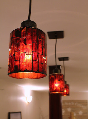 pendant light - mosaic glass - Home Depot