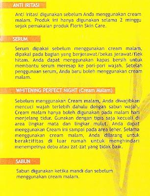 Cara pemakaian florin skin care
