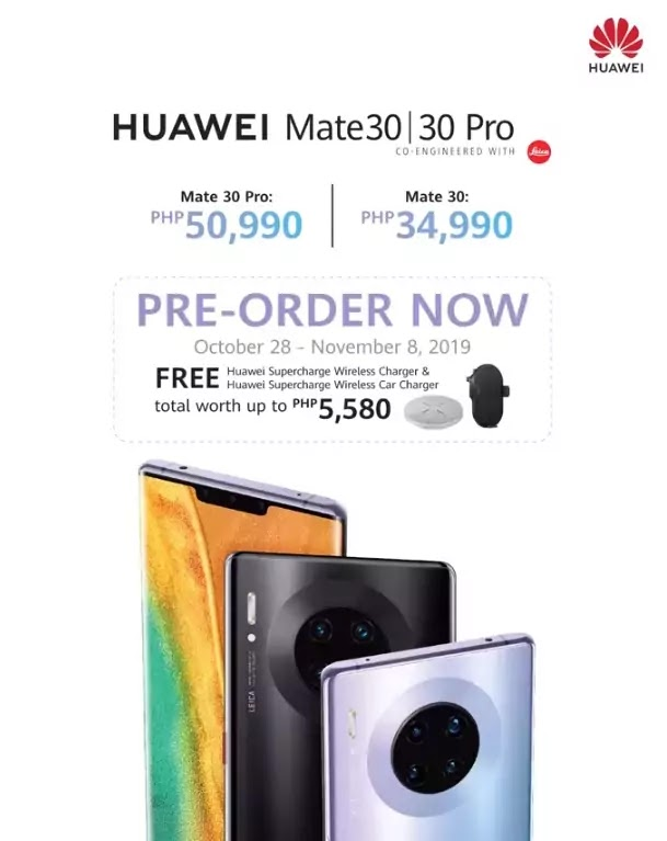 Huawei Mate 30 and Mate 30 Pro Now Available for Pre-Order