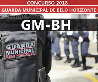 Concurso Guarda Municipal BH MG 2018