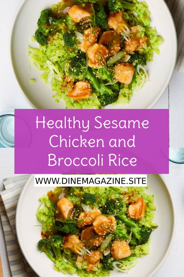 Healthy Sesame Chicken and Broccoli Rice - Healthy Recipes - Easy Chicken Recipe - Easy Dinner Recipe - Easy Healthy Recipe #healthyrecipes #easyhealthyrecipe #whole30 #whole30recipe #easychickenrecipe #chickenrecipe #easydinnerrecipe #dinnerrecipe #dish #maindish