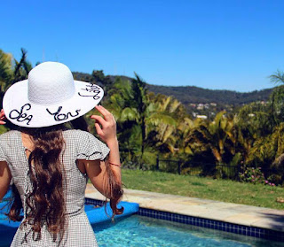 DIY Slogan Straw Hat