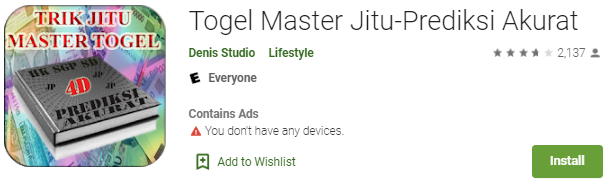 Download Sekarang Juga Aplikasi Togel Master Jitu-Prediksi Akurat