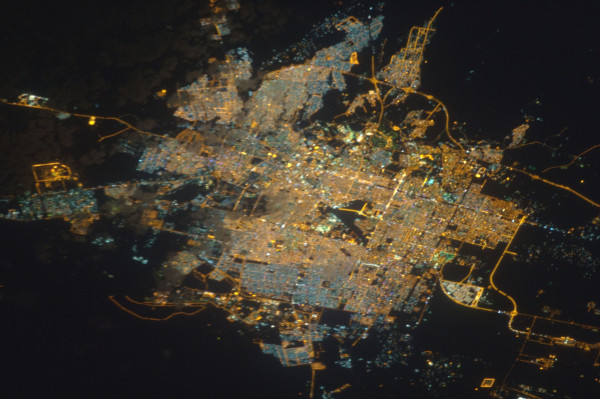Cities at Night - International Space Station | a cabinet ...