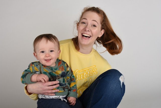 mother and son photoshoot