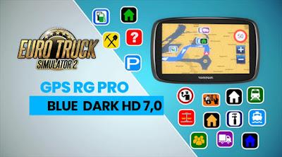 GPS RG PRO BLUE DARK HD 7.0 - ETS2 1.40