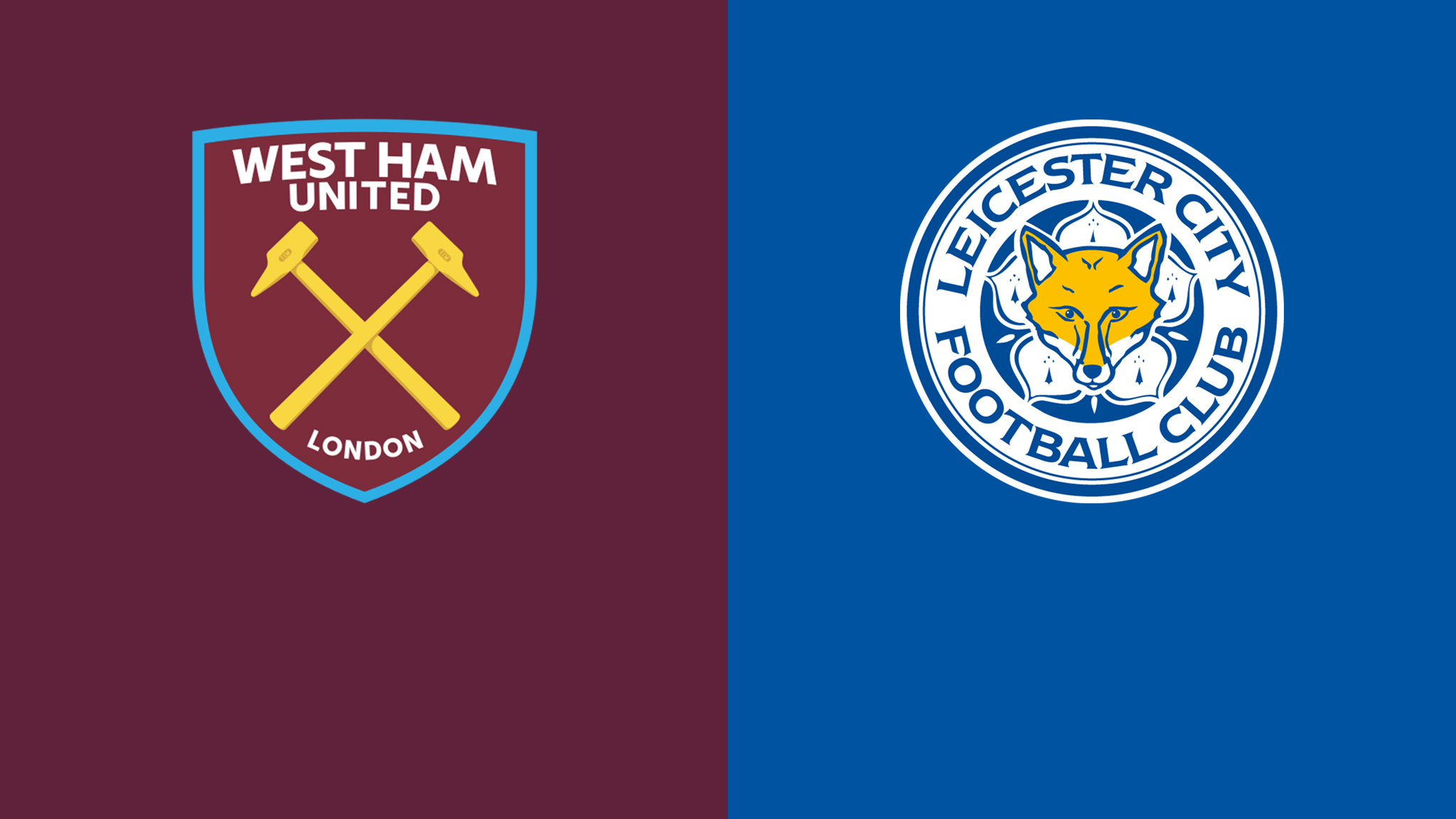 West Ham United vs Leicester City footem