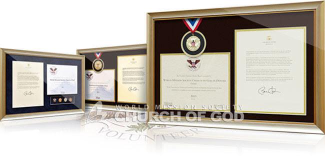 Premiada com o Prêmio Presidencial dos EUA por Serviço Voluntário