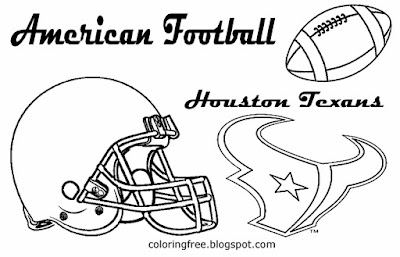 Oil kings Houston Texans proud American AFC football coloring pictures for lads USA sports to print