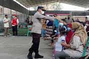 Polsek Cikande Lakukan Pengamanan kegiatan Vaksinasi Massal