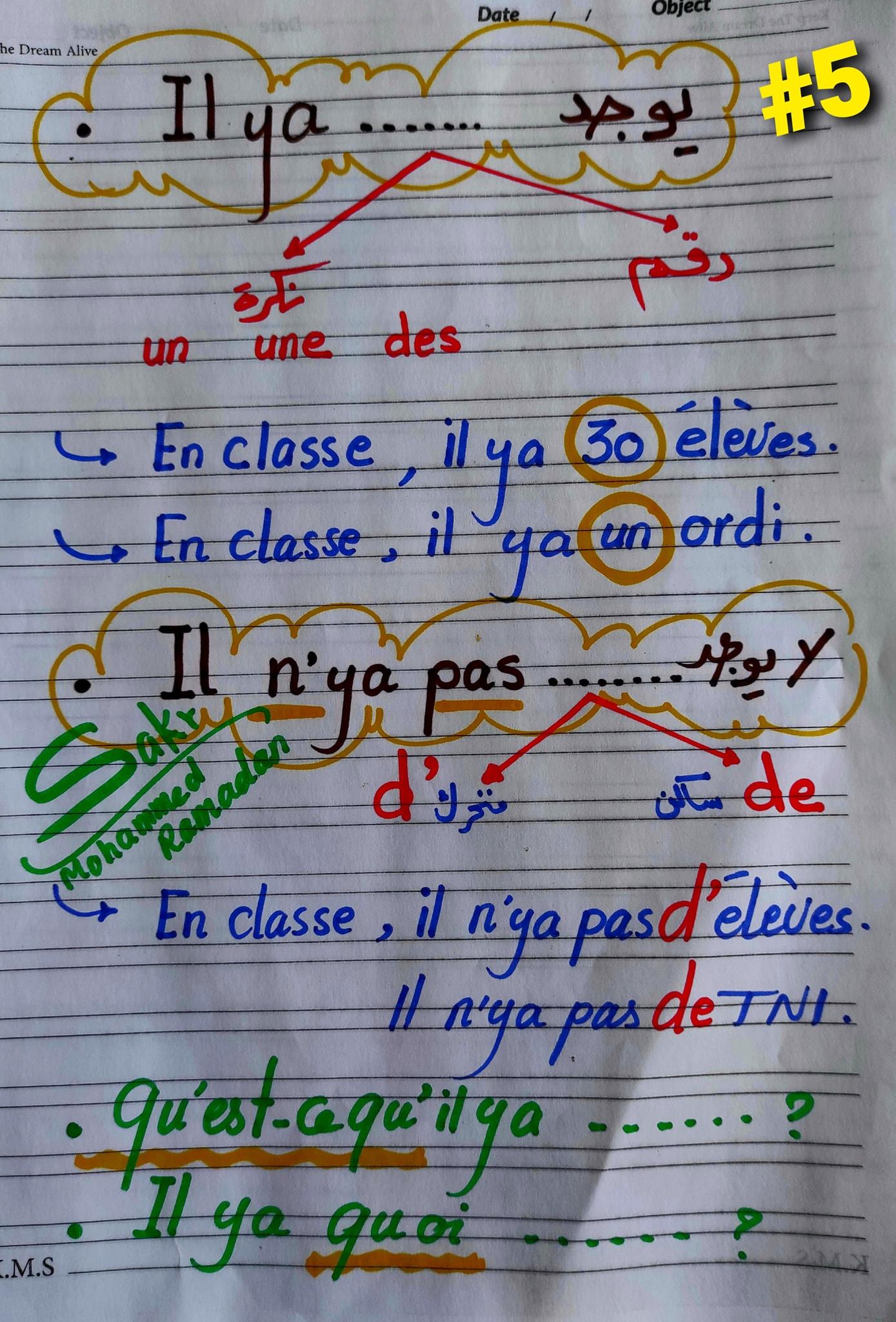 مراجعة شاملة لغة فرنسية للصف الاول الثانوي ترم ثاني.. أهم الكلمات والقواعد و 200 سؤال مجاب  4