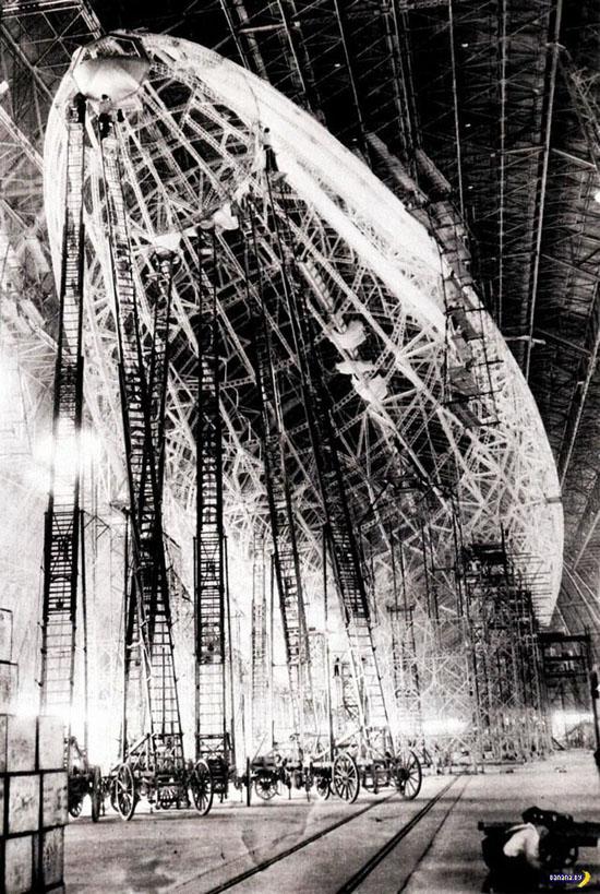 Строительство дирижабля LZ-127 Graf Zeppelin
